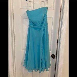 Jasmine B2 Bahama Breeze Blue Bridesmaid Dress 14